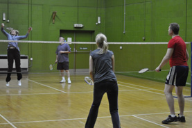 The badminton hall in New Malden